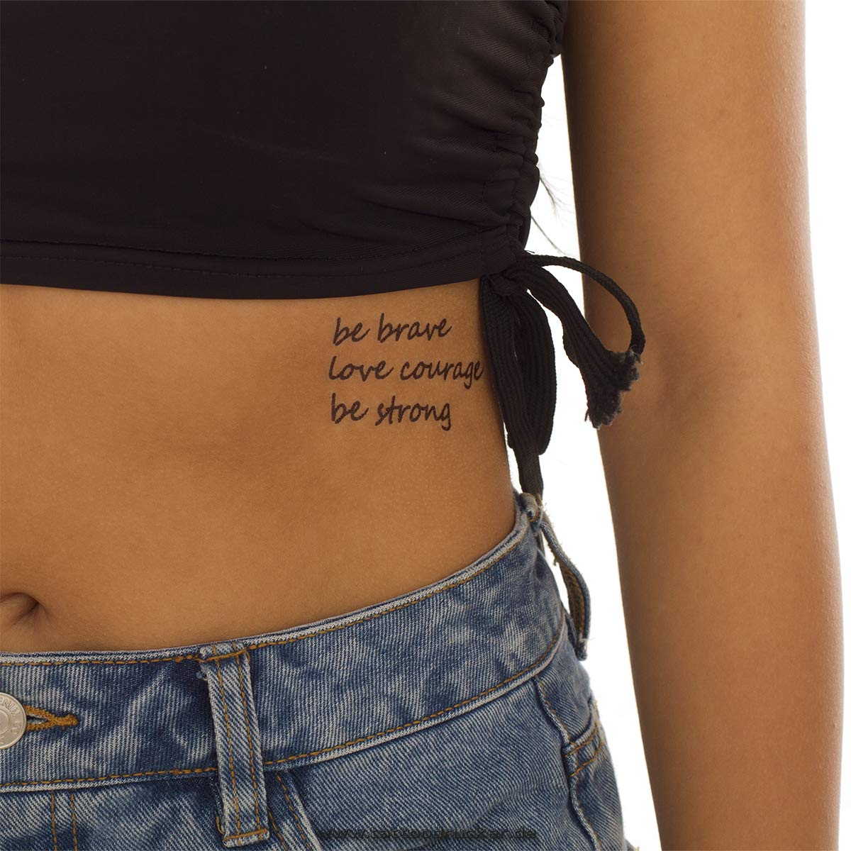 Be Brave Love Courage be Strong Tattoo - Tatuaje para Piel ...