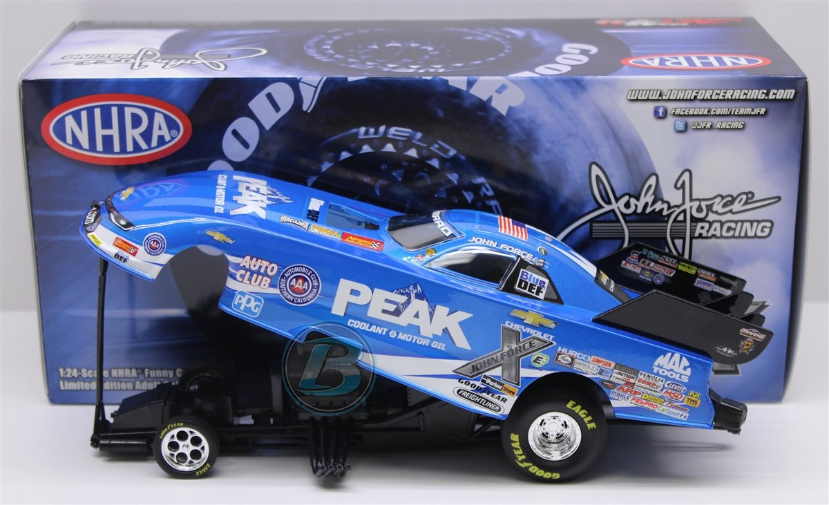 Lionel Racing John Force Peak 2017 Chevrolet Camaro Funny Car 1:24th Scale  Official Diecast of The NHRA