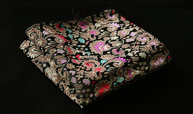 HISDERN Mens Paisley Floral Jacquard Self Bow Tie Pocket Square Set Wedding Party