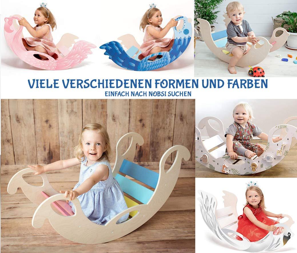 Bunte Bogenwippe aus Holz Pikler handgefertigter Kletterbogen f/ür Babys und Kinder Montessori
