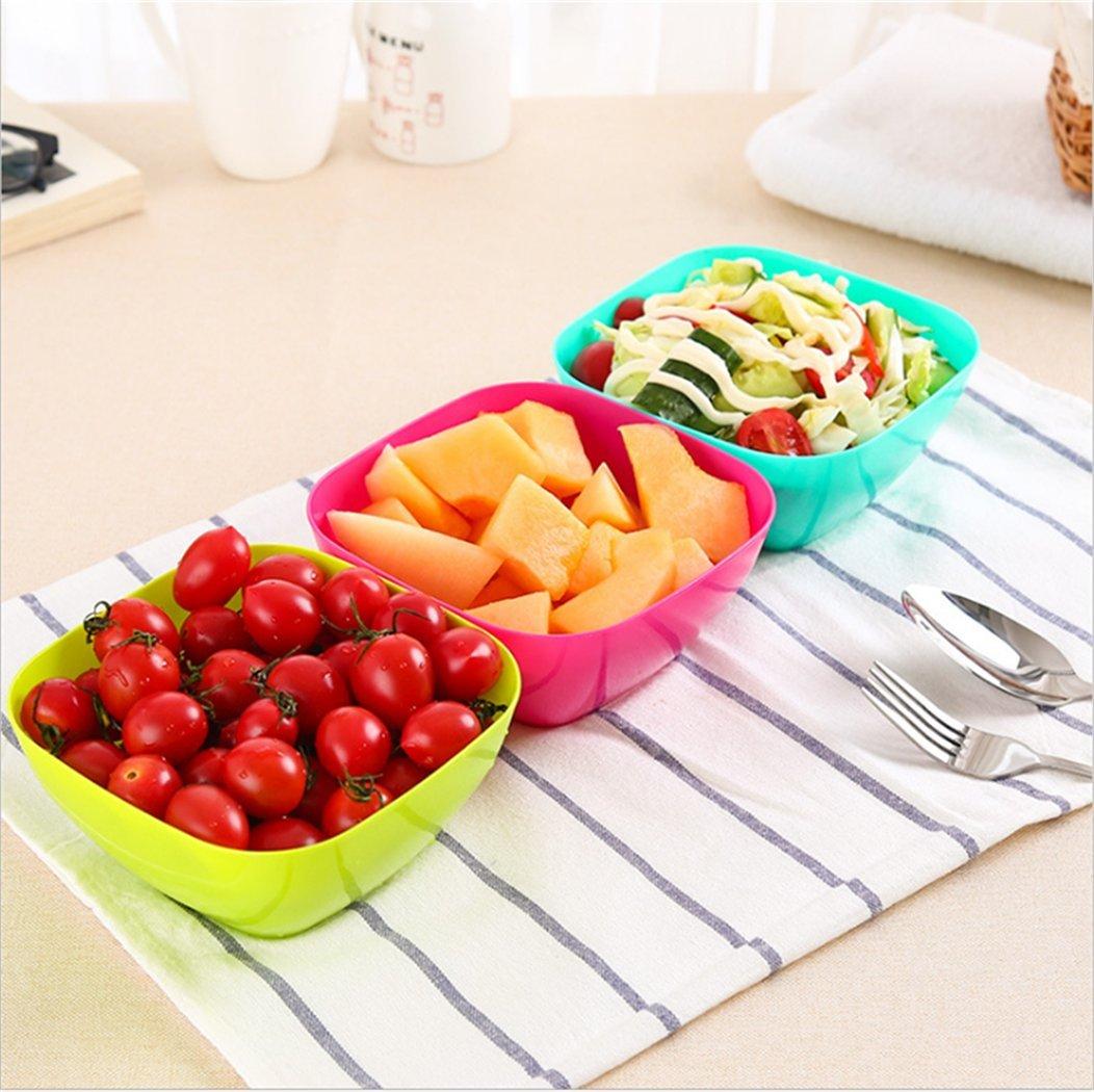 CanLin Food grade PP material Fruit bowl,Kitchen multi-purpose fruit and vegetable salad bowl(multi-colour 3PCS)