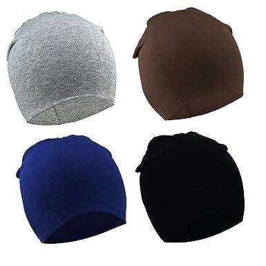 6f61e8b31ef DRESHOW BQUBO 4 Pieces Baby Beanie Newborn Toddler Soft Cute Knit Hat  Hospital Hats for Baby