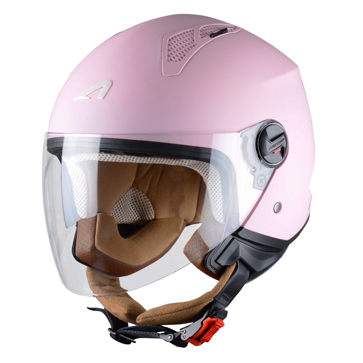Astone Helmets Mini Jet Army Casco Jet, color Rosa Claro, talla XS product image