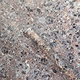 Brown Granite Look Marble Gloss Film Vinyl Self Adhesive Counter Top Peel and Stick Wall Decal 24''x79''