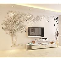 DIY 3D Enorme Albero delle coppie Adesivi da muro Cristallo Acrilico Decalcomanie da muro Wall Murals Decorazioni domestiche Wall Stickers Murali Arts