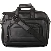 K London Black Artificial Leather Handmade Men Laptop Bag Cross Over Shoulder Messenger Bag Office Bag (1102_Black)