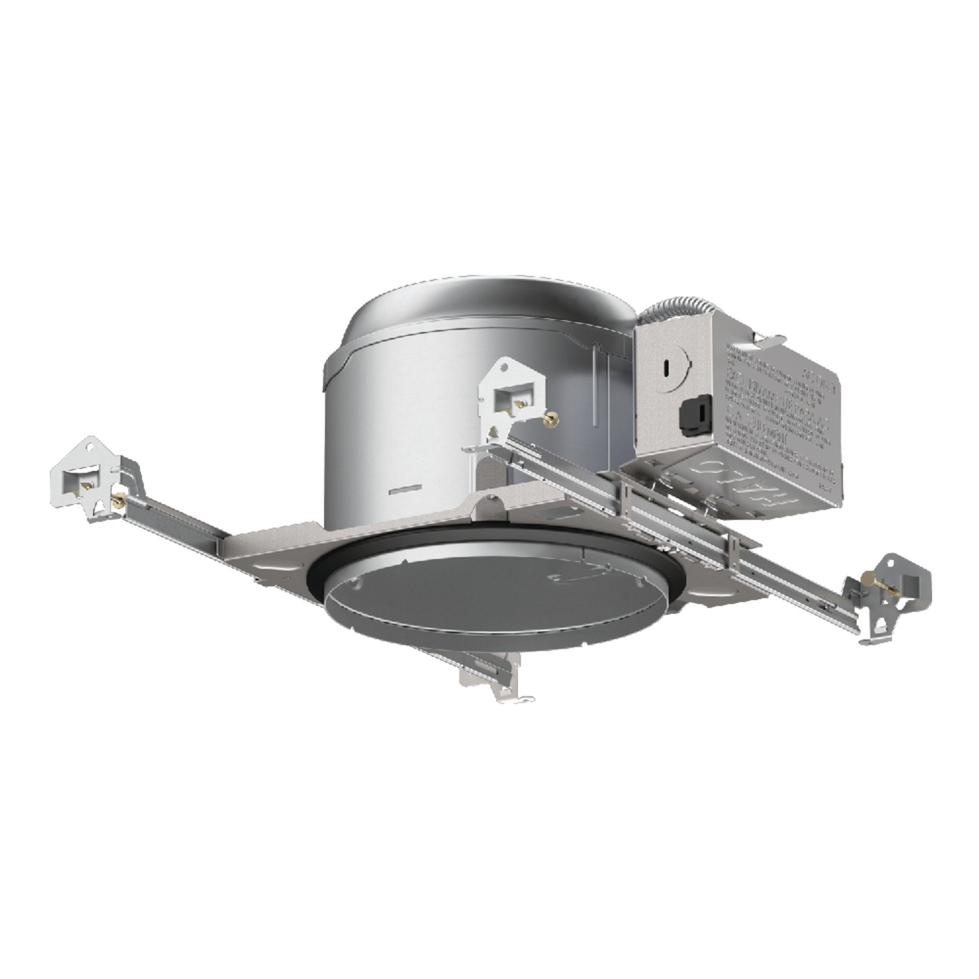 Halo E27ICAT E26 Series Recessed Lighting Shallow New Construction Insulation Contact Rated Air-Tite Housing, 6 In, Aluminum