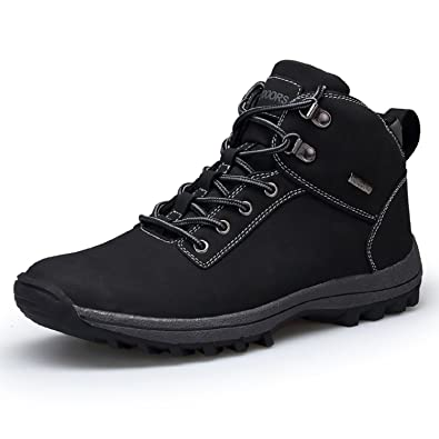 Winter Snow Boots Waterproof Mens Walking Hiking Sports Outdoor Shoes Black Brown Khaki 39-46