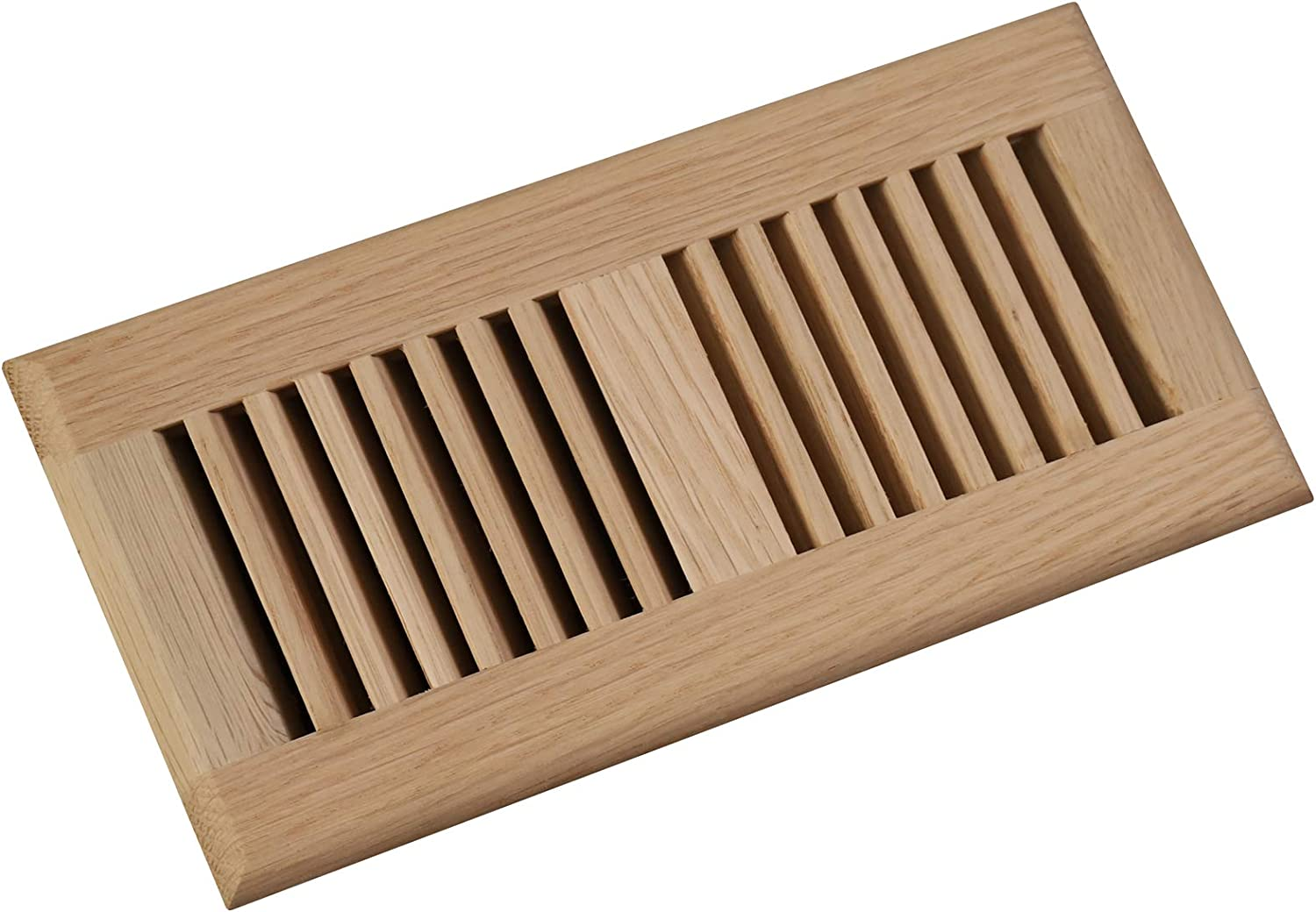 Welland 2 PCS Set White Oak 4-inch by 10-Inch Drop in Vents,3/4 inch Thickness Wood Vents Cover Floor Register,Unfinished.