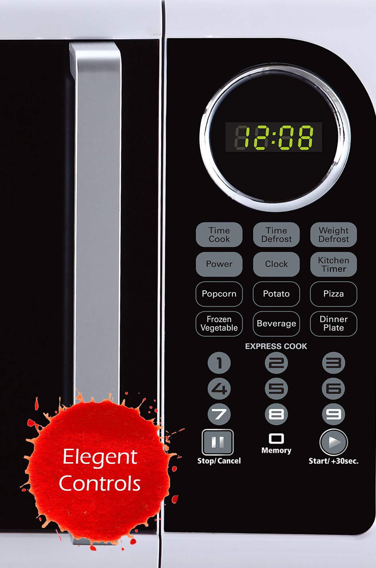 Black+Decker EM925ACP-P1 0.9 Cu. Ft. Digital Microwave, White by BLACK+DECKER (Image #5)