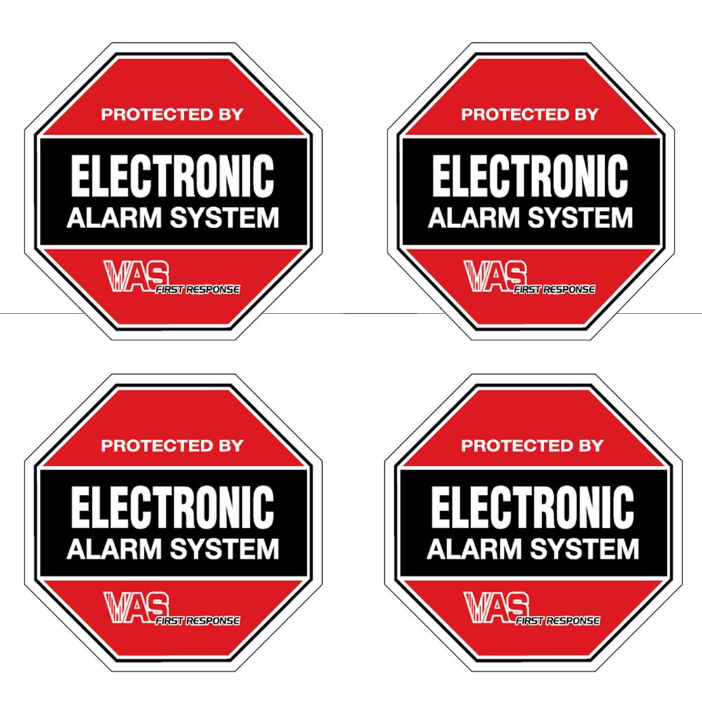 Amazoncom VAS Security Burglar Alarm System Home Business - Window decals for home security
