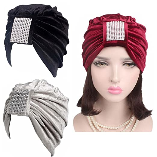 a5c5ca541 Lucky staryuan 3Pack Womens Chemo Hat Velvet Headwear for Cancer ...