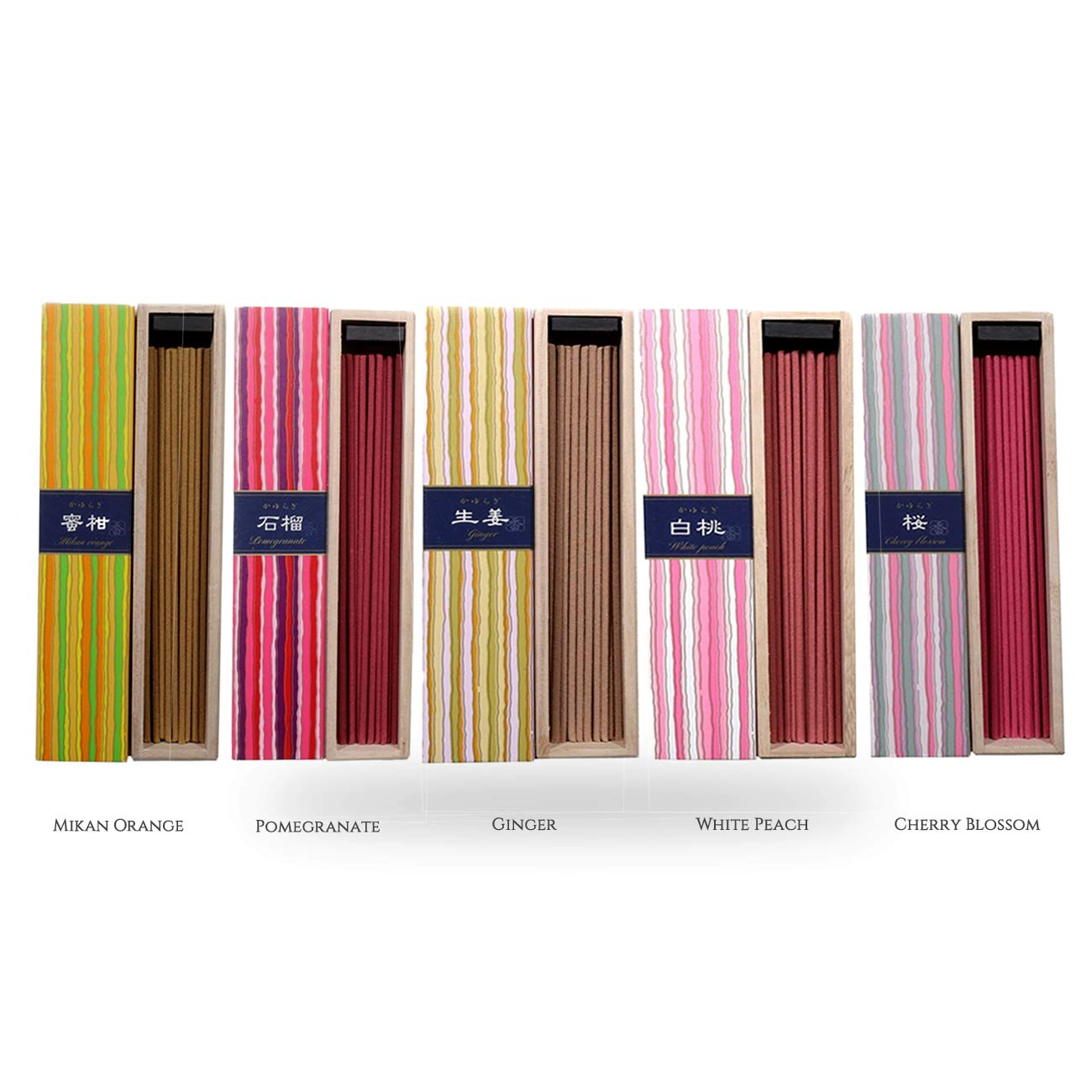 nippon kodo Kayuragi Incense Collection   The Garden of Japan Bundle 40x5   Floral and Aromatic Wood Scents for Relaxation, Meditation, Prayer, Reading, Yoga   Clean Burning, Pure Scent by nippon kodo