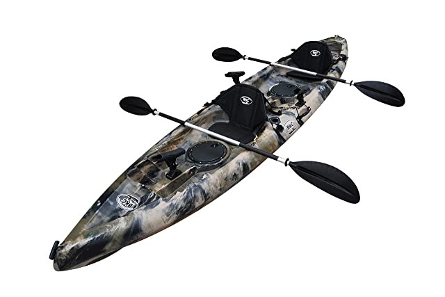 BKC UH-TK181 12-foot 5-inch Sit On Top Tandem 2 Person Fishing Kayak