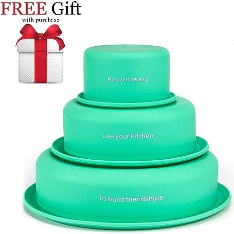 Amazon.com: LVKH - Moldes de silicona para tartas y tartas ...