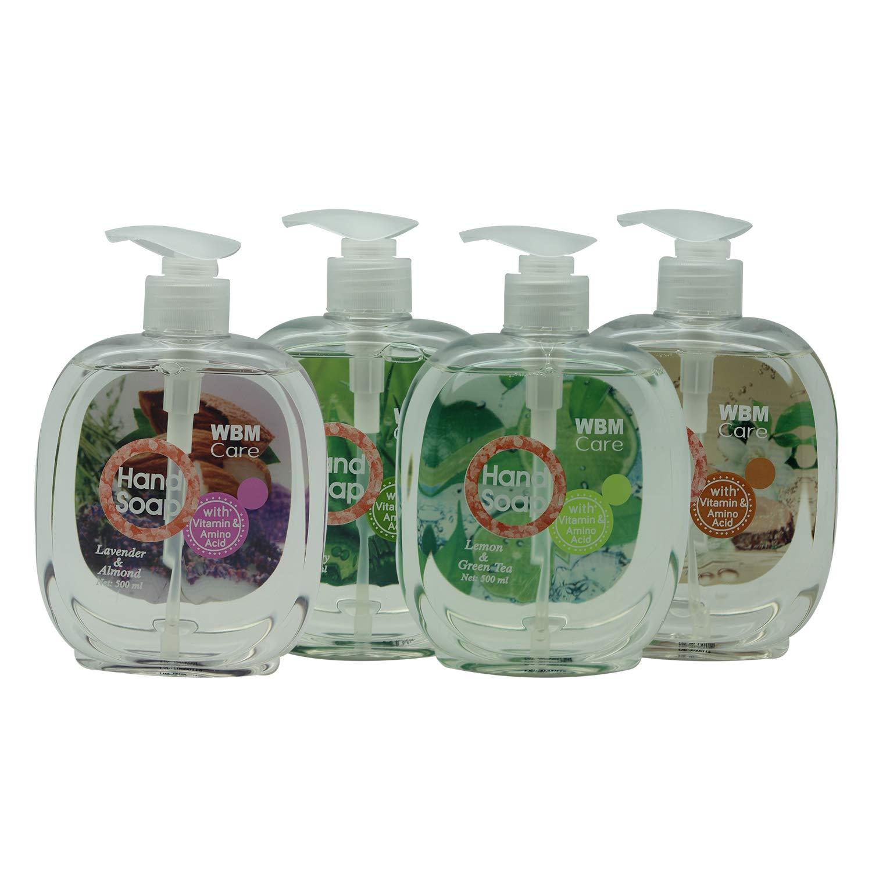 WBM Care Gift Set Hand Wash | Lemon & Green, Sandalwood & Jasmine, Lavender & Almond, Tea Tree & Rosemary | 4 in 1