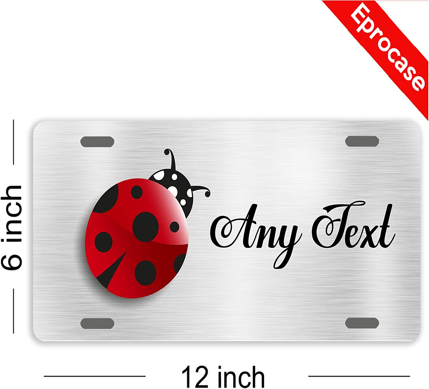 Add Photo Text or Logo Aluminum Novelty License Plates Be Burgundy Custom License Plate for Cars