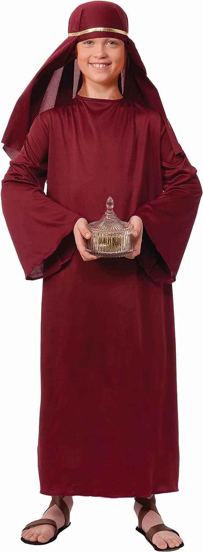 Forum Novelties Biblical Times Shepherd Burgundy Costume Robe, Child Large - Large One Color