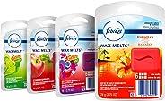 Febreze Wax Melts Air Freshener Variety Pack, Fresh-Pressed Apple, Hawaiian Aloha, Moonlight Breeze and Gain Original Scents
