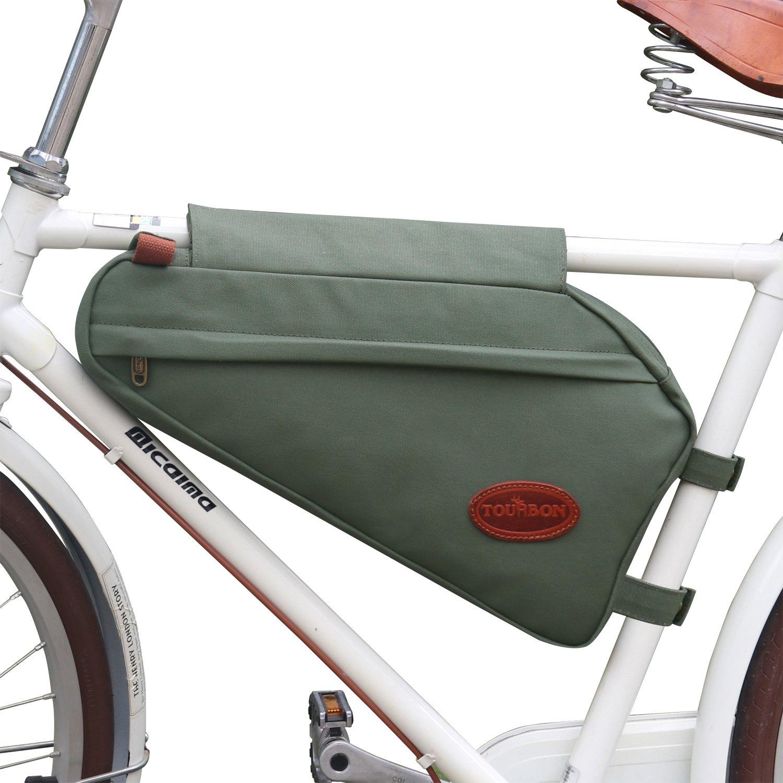 Tourbon Leinwand Leder Bike Triangle Tasche Fahrrad Rahmen Tasche ...