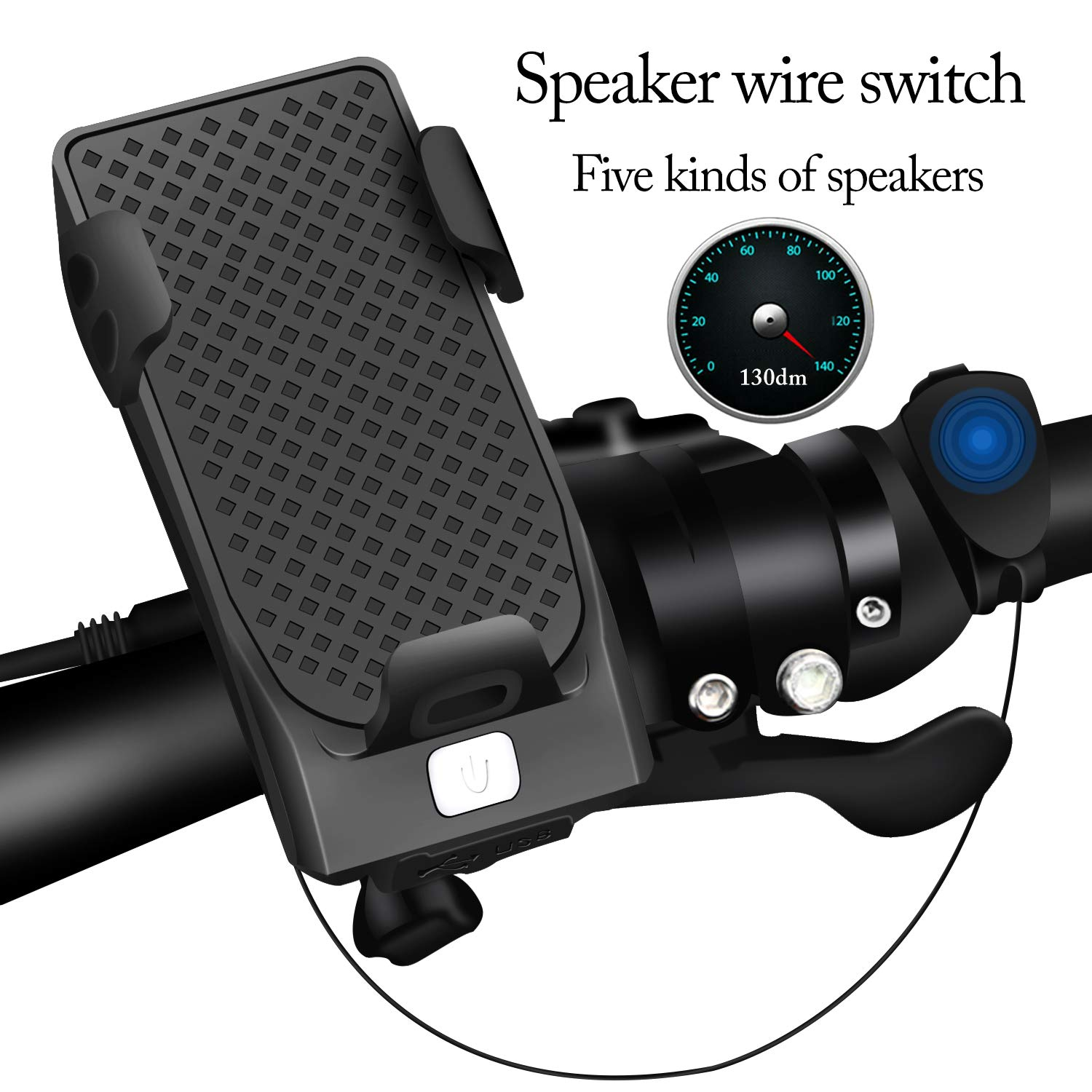 Cycling Safety Commuter Flashlight USB Rechargeable and Easy to Install Bicycle Light LED Light Bike Horn and Power Bank Frontlight with 3 Modes Tsuinz Bicycle Light Waterproof Cycling Lights