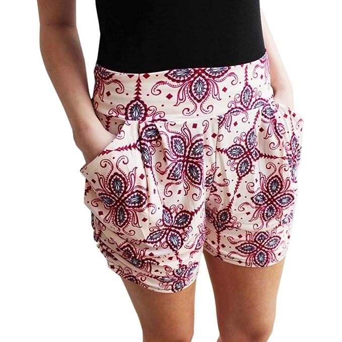 a615da3a5005 Hosen Damen Kolylong® Frauen Sommer gedruckt hohe Taille kurze Hosen Hot  Pants Strand Shorts Sporthosen