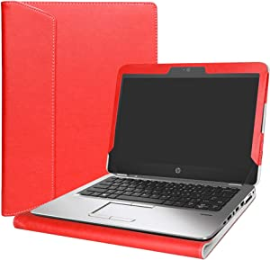 "Alapmk Protective Case Cover for 12.5"" HP EliteBook 820 G4 G3 G2 G1 & EliteBook 725 G4 G3 G2 Series Laptop(Warning:Not fit Other EliteBook Series Laptop),Red"