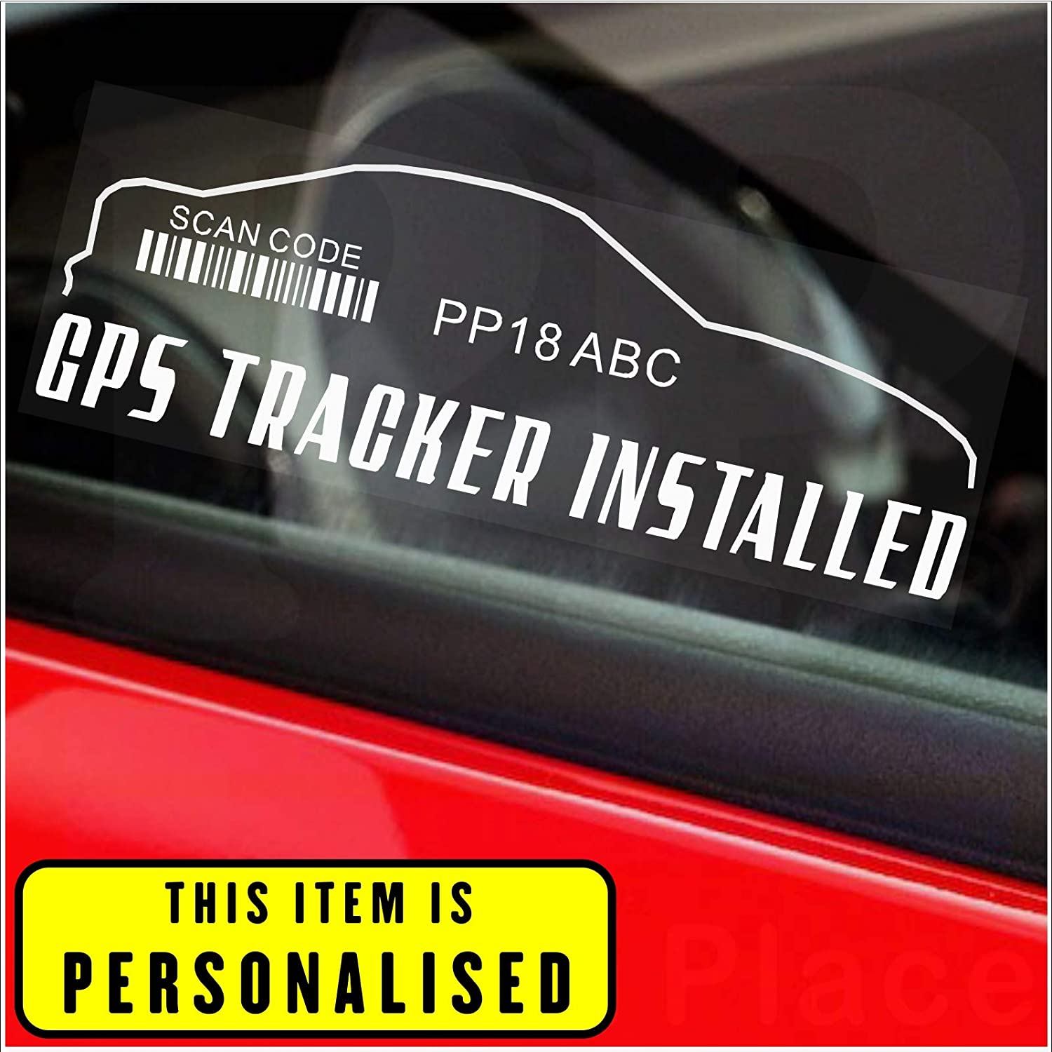 4 X Gps Tracker Stickers Outline Design Personalised Registration Number Printed Device Unit Security Alarm System Warning Window Signs Tag Car Van Truck Caravan Motorhome Lorry Taxi Rv Campervan Amazon Co Uk Car