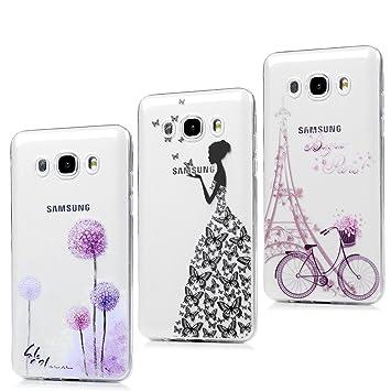 3x Funda para Samsung Galaxy J5(2016), J510 Carcasa Silicona Gel Case Ultra Delgado TPU Goma Flexible Cover para Samsung Galaxy J5(2016)/J510 - Chica ...