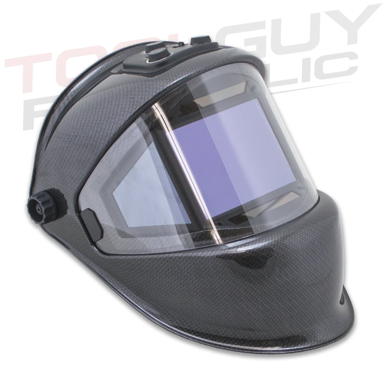 TGR Panoramic 180 View Solar Powered Auto Darkening Welding Helmet - True Color (Carbon Fiber) by Tool Guy Republic (Image #1)