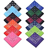 Cotton Bandanas,Alotpower Multifuctional Paisley Print Headbands Bandana