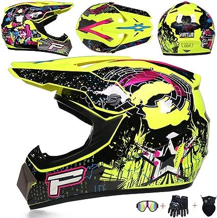 Jcldg Motorradhelm Cross Helme Schutzhelm Motocross Helm Full Face Mtb Herren Helm Für Mountainbike Moped Bergbuggy Sport Sicherheit Mit Handschuhe Maske Brille Für Adult Und Männer Damen Sport Freizeit