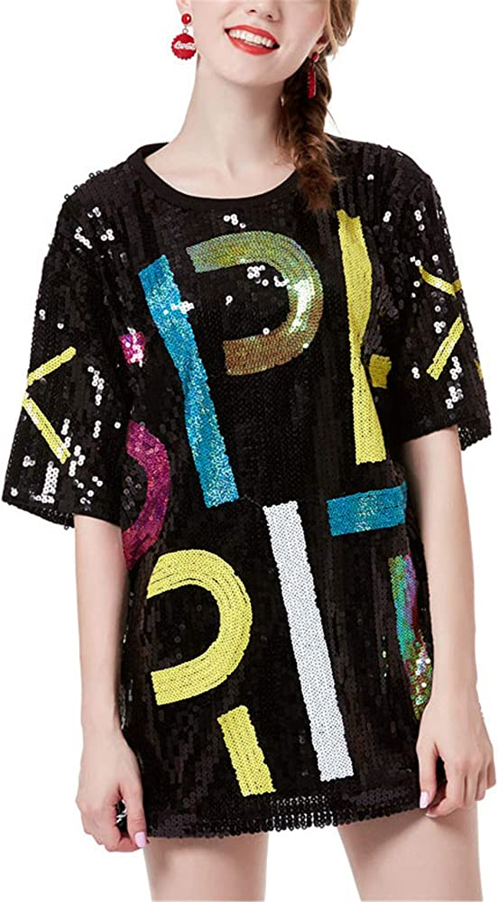 New Look Womens Go Sequin Jersey Tux Dress Casual