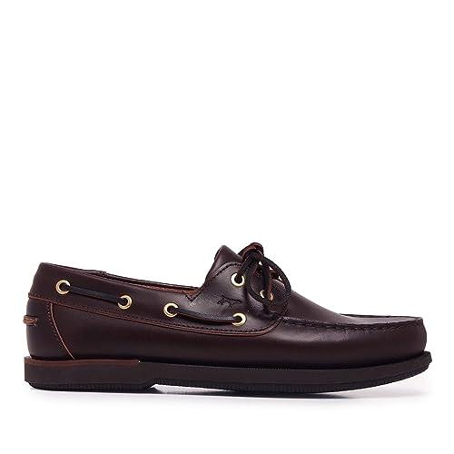 castellanisimos bottines cuir marron foncé