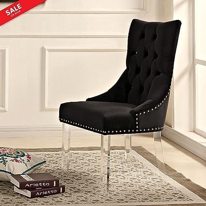 Sensational Amazon Com Velvet Accent Chair Upholstered High Back Creativecarmelina Interior Chair Design Creativecarmelinacom