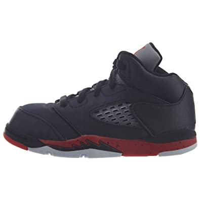 efc3ba6488fa7a Jordan Retro 5 quot Satin Bred Black University Red (TD) (5 M