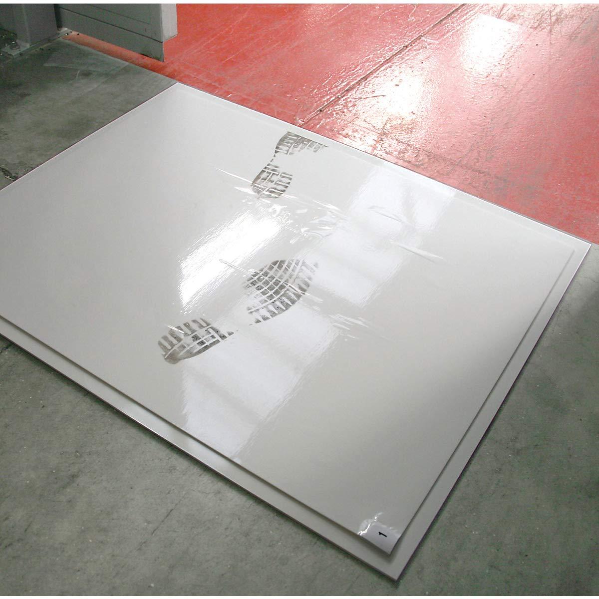 60 Stk inkl Bodenmatte Reinraum Reinraumausstattung Reinraummatte Reinraummatten - LxB 800 x 1300 mm Foliensatz Reinraummatte mit haftender Oberfl/äche