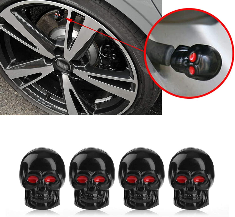 4x Blue Wheel Tyre Tire Valve Stems Air Dust Screw Caps Anti-leak Car Truck Bike