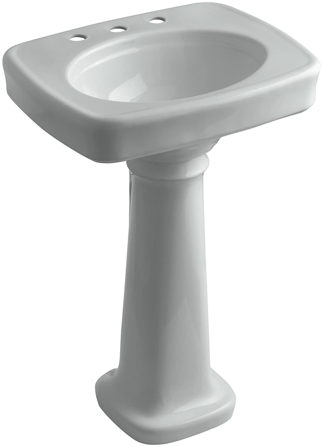 KOHLER K-2338-8-0 Bancroft Pedestal Bathroom Sink with Centers for 8 ...