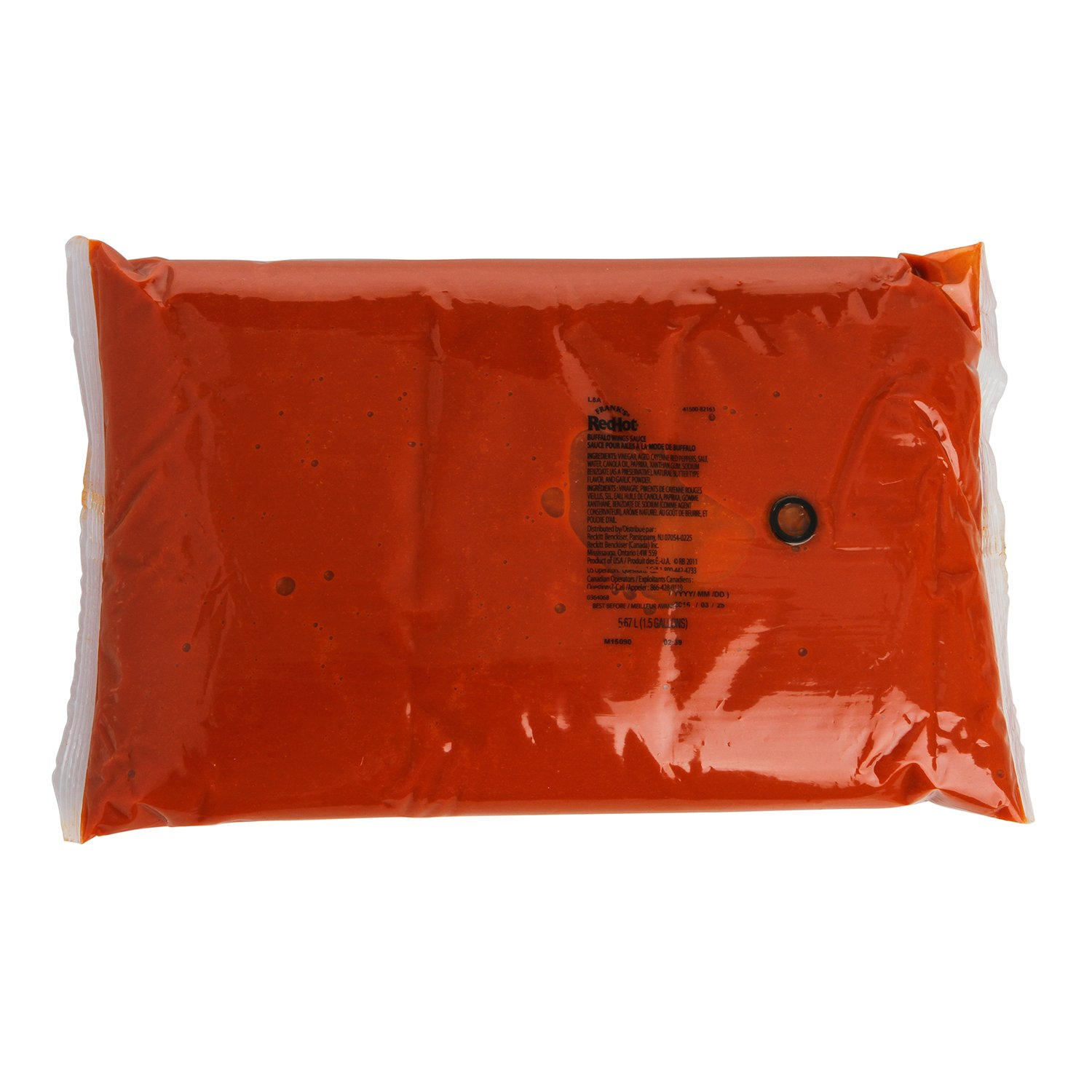 Frank's RedHot Original Buffalo Wings Sauce-Dispensing Pouch With Fitment, 1.5 gal