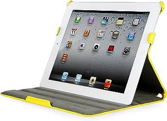 StilGut Ultraslim Case, custodia con funzione di supporto e presentazione per Apple iPad 3a & 4a generazione Wifi + 4G 16, 32, 64 GB, giallo