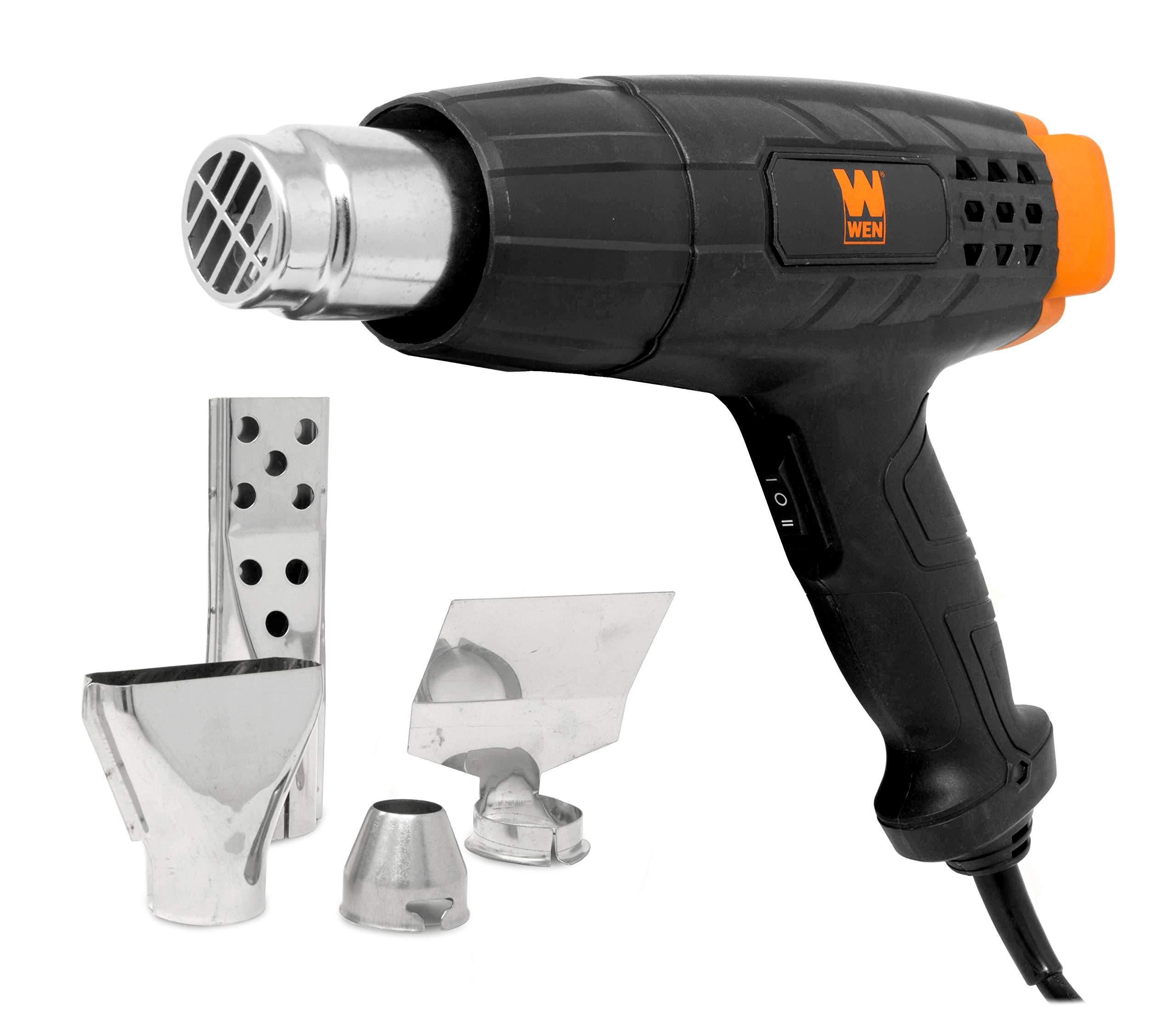 WEN HG1022 12.5-Amp Dual-Temperature Heat Gun with Attachments