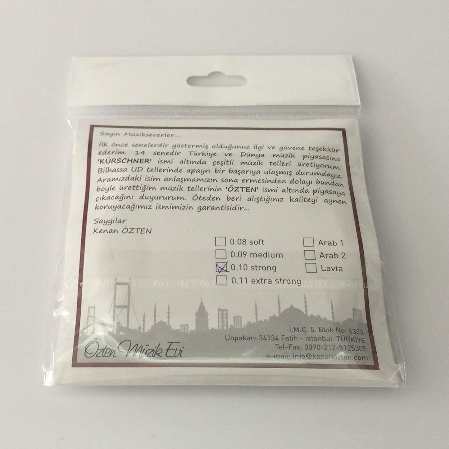 Professional Strings For Turkish Oud Ud 0.10