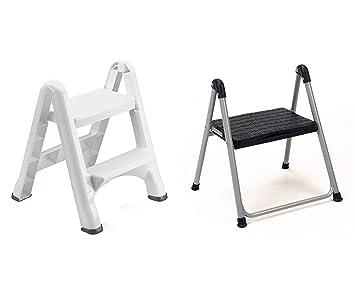 Cool Amazon Com Rubbermaid Folding 2 Tier Step Stool White Machost Co Dining Chair Design Ideas Machostcouk