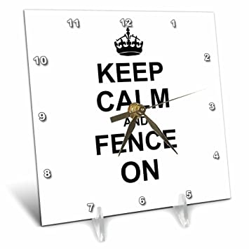 Amazon com: 3dRose dc_157719_1 Keep Calm and Fence on Carry on