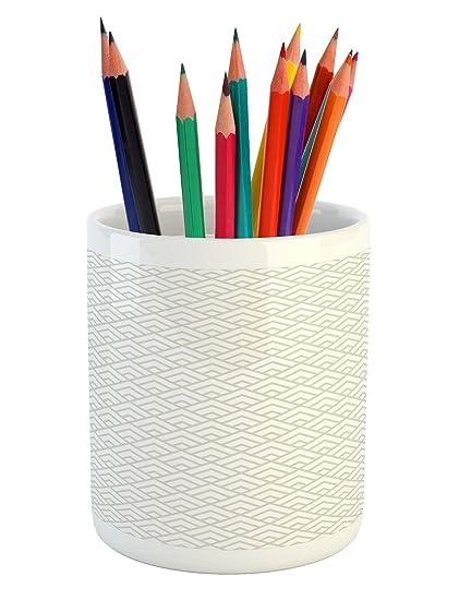Amazon Lunarable Geometric Pencil Pen Holder Geometric Diamond Mesmerizing Diamond Tile Pattern