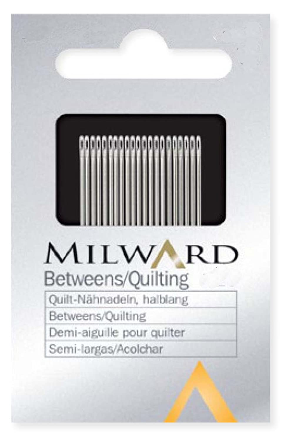 betweens quilting needles hand sewing (0,53x22,5mm) Milward