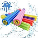DraMosary Water Blaster Soaker Gun for Kids, 6 Pack Safe Foam Noodles Pump Action Outdoor Squirt Gun for Pool/Beach/Yard/Part