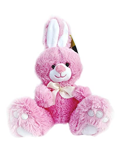 Amazon Com Animal Adventure Plush Pink Easter Bunny Toys Games