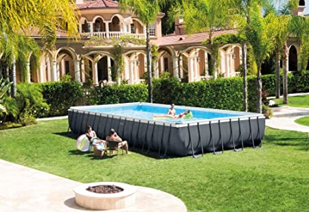 Piscina desmontable rectangular INTEX Ultra XTR Frame, 975x488x132 cm, con depuradora y escalera: Amazon.es: Productos para mascotas